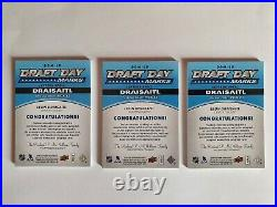 2014-15 SP Game Used LEON DRAISAITL 9 ROOKIE DRAFT DAY MARKS AUTO PATCH RC /35