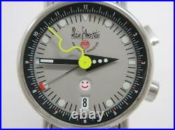 Alain Silberstein Reveil 99 Limited Automatic Gray Dial Alarm Smile Day Mens