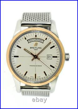 Breitling Transocean Day Date Limited Edition 18K Rose Gold/SS Watch U45310