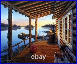 Darrell Bush Opening Day Cabin Lake Print Signed and Numbered With Certificate