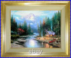 End of a Perfect Day II 24x30 S/N Framed Limited Edition Thomas Kinkade Canvas
