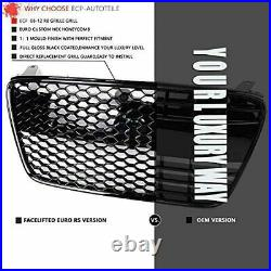Fit for 07-12 R8 42 Gen1 Kühlergrill Euro Main Upper Hex Grille Gloss Blackout