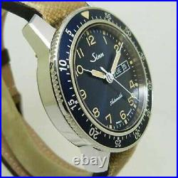Free Shipping Pre-owned Sinn 104. ST. SA. A. BE Automatic Day-Date Dark Blue