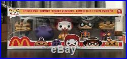 Funko POP! TV Icons Mcdonalds 5 Pack Bundle Limited Edition SAME DAY SHIPPING