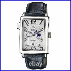 Gevril 5850 Serenade Solid 18 KT White Gold Dual Time Zone Day/Night Indicator