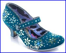 Glory Days Teal Heels by Irregular Choice, New with Box, US Size 8, EUR 39