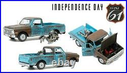 Highway 61 18021 118 1971 Chevrolet C-10 (independence Day) With Figure