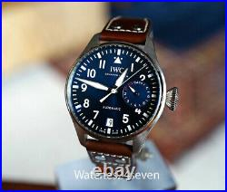 IWC Big Pilot Le Petit Prince Midnight Blue Dial Auto 7 Day 46mm RETAIL $12,900