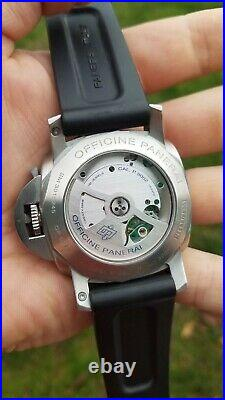 JUST FULLY SERVICED Panerai PAM321 Full Set Luminor 1950 GMT 3 Day Power Reserve