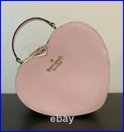 Kate Spade Heart Crossbody Love Shack 3D Pink Tik Tok Valentines Day Bag NWT