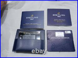 NEW Breitling Aviator/Navitimer 8 Automatic Day Date Chronometer Blue + Warranty