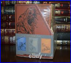 New Tolkien Hobbits Atlas Battles Heroes David Day Sealed Boxed Set Leather Feel