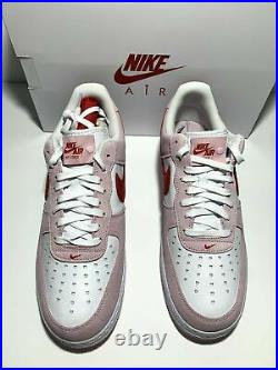 Nike Air Force 1 Low 07 QS Valentines Day Love Letter Size 12 (DD3384-600)