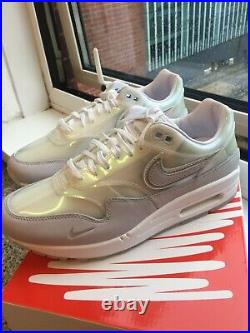 Nike Air Max 1'SNKRS Day' Platinum White (8.8.20) Edition UK Size 6 EU40 US7