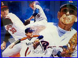 Nolan Ryan Autographed Framed Limited Edition Lithograph By Danny Day
