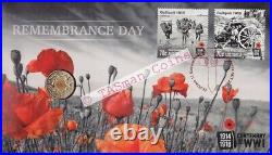 PNC Australia 2015 Remembrance Day RAM $2 Coin Red Foil PM Limited Edition 1111