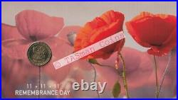 PNC Australia 2016 Remembrance Day RAM $1 Coin Red Foil PM Limited Edition 1111