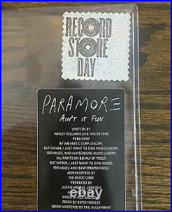 Paramore Aint It Fun Shaped Vinyl Record Store Day RSD 2014 x/2700 Rare Limited
