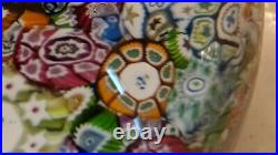 Perthshire PP19 1979 Scrambled End of Day Paperweight LE EC Clear Base