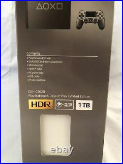 PlayStation 4 PS4 Slim 1TB Days of Play Limited Edition Console Bundle NEW