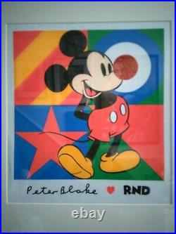 Professional Framed Sir Peter Blake Limited Edition Red Nose Day T-Shirt 2019