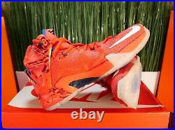 RARE Nike LeBron XII 12 USA Independence Day Red Mens Shoes 684593-616 Size 9