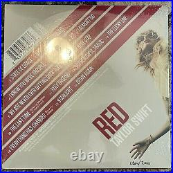RSD Taylor Swift Red Clear Vinyl New Sealed # 1,324/7,000 Record Store Day