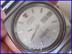 Rare 70's Ss Omega Seamaster Day Date Electronic F300hz Chronometer 6088