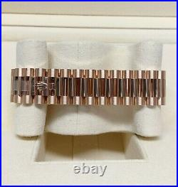 Rolex Day Date 40 228235 Rose Gold Diamond Dial With Papers 2020 UNWORN
