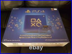 Sony PlayStation 4 Days Of Play Limited Edition 1TB Blue Console PS4 New