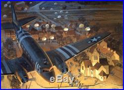 Ste-Mere-Eglise Tom Freeman Print C-47 at Normandy, D-Day June 6th 1944