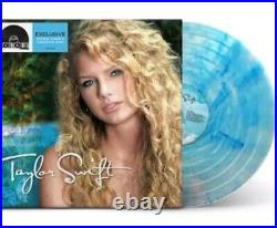 Taylor Swift Crystal Clear & Turquoise Colored Vinyl 2 LP Record Store Day /3750