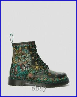 UK8 USM9 USW10 Doc Dr. Martens 1460 Day Of The Dead Skull Limited Edition