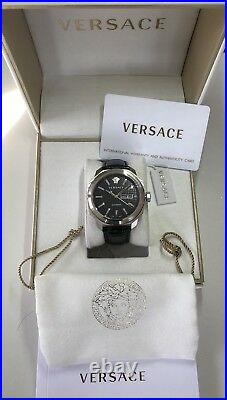 Versace Men's VQI010015 DYLOS Day Date Automatic Limited Edition Black Watch